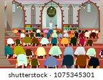 a vector illustration of... | Shutterstock .eps vector #1075345301