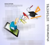 ideas concept for education... | Shutterstock .eps vector #1075345781