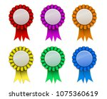 ribbon award badge red green... | Shutterstock .eps vector #1075360619