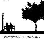 lovely retired elderly couple... | Shutterstock .eps vector #1075366037