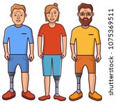 artificial leg.young person... | Shutterstock .eps vector #1075369511