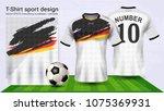 soccer jersey and t shirt sport ... | Shutterstock .eps vector #1075369931