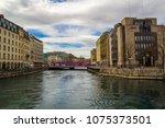 geneva  switzerland   march 8 ... | Shutterstock . vector #1075373501