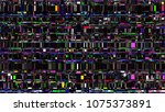 glitch. abstract shapes. chaos. ... | Shutterstock .eps vector #1075373891