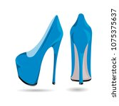 women's blue patent leather...