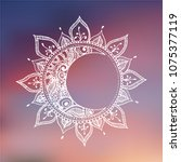 hand drawn sun and moon.... | Shutterstock .eps vector #1075377119