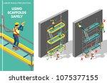 labor risks prevention about... | Shutterstock .eps vector #1075377155