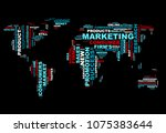 web marketing word cloud... | Shutterstock .eps vector #1075383644