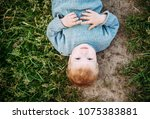baby boy 1 2 years old... | Shutterstock . vector #1075383881