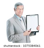 nice businessman at the age ... | Shutterstock . vector #1075384061