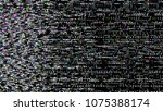 glitch. abstract shapes. chaos. ... | Shutterstock .eps vector #1075388174