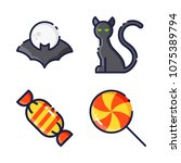 halloween icon.black design... | Shutterstock .eps vector #1075389794