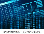 web server data on a monitor | Shutterstock . vector #1075401191