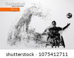basketball player disabled.... | Shutterstock .eps vector #1075412711