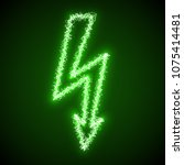 green sign high voltage of... | Shutterstock . vector #1075414481
