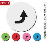 bent up arrow flat round... | Shutterstock .eps vector #1075426244