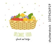 organic food. fresh and tasty.... | Shutterstock .eps vector #1075426919