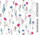 seamless vector texture. retro... | Shutterstock .eps vector #1075432235