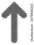 halftone hexagon arrow... | Shutterstock .eps vector #1075436321
