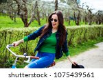 cheerful modern hipster... | Shutterstock . vector #1075439561