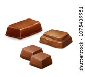 chocolate candy bar  vector... | Shutterstock .eps vector #1075439951