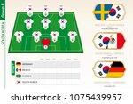 south korea football team...   Shutterstock .eps vector #1075439957