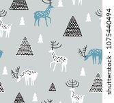 seamless pattern with wild... | Shutterstock .eps vector #1075440494