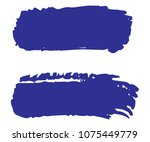 collection of hand drawn blue... | Shutterstock .eps vector #1075449779