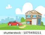 vector illustration of nature... | Shutterstock .eps vector #1075450211