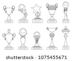 sports trophies and awards... | Shutterstock .eps vector #1075455671