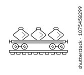 freight train vector line icon... | Shutterstock .eps vector #1075458299