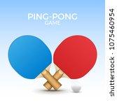 rackets for table tennis.... | Shutterstock .eps vector #1075460954
