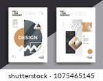 creative design poster with... | Shutterstock .eps vector #1075465145