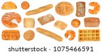 assortment bread products from... | Shutterstock . vector #1075466591