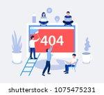 404 error page design concept.... | Shutterstock .eps vector #1075475231