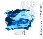 blue brush stroke and texture.... | Shutterstock .eps vector #1075475351