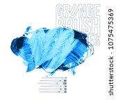 blue brush stroke and texture.... | Shutterstock .eps vector #1075475369