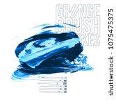 blue brush stroke and texture.... | Shutterstock .eps vector #1075475375