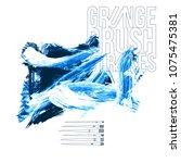 blue brush stroke and texture.... | Shutterstock .eps vector #1075475381