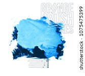 blue brush stroke and texture.... | Shutterstock .eps vector #1075475399