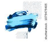 blue brush stroke and texture.... | Shutterstock .eps vector #1075475405