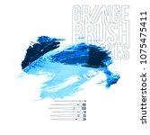 blue brush stroke and texture.... | Shutterstock .eps vector #1075475411