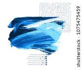 blue brush stroke and texture.... | Shutterstock .eps vector #1075475459