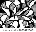 grunge pattern. abstract design.... | Shutterstock .eps vector #1075479545