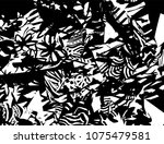 grunge pattern. abstract design.... | Shutterstock .eps vector #1075479581