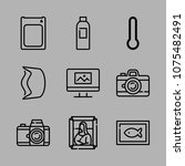 icons camera with film camera ...   Shutterstock .eps vector #1075482491