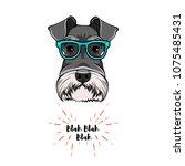 schnauzer geek. dog nerd. smart ...   Shutterstock .eps vector #1075485431