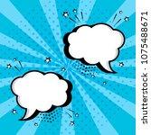 white empty speech comic...   Shutterstock .eps vector #1075488671