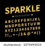 uppercase regular display font...   Shutterstock .eps vector #1075493525
