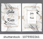 elegant creative business cards ... | Shutterstock .eps vector #1075502261